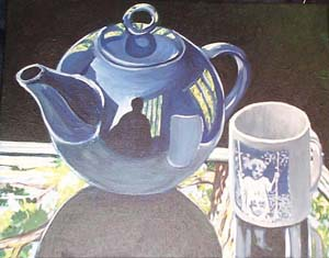 Blue Teapot in Summer